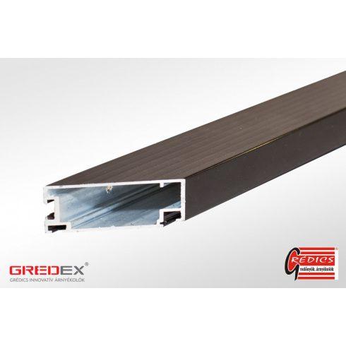 SZÚNYOGHÁLÓ - Alumínium 20x40 nyilóajtó profil sötét barna
