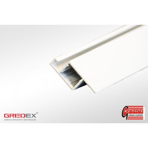 Alumínium 11x30 peremes szúnyogháló profil fehér